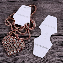 Stainless-Steel Jewelry-Cards Necklace Bracelet Packaging Hang-Tags-Cards for Hairpin