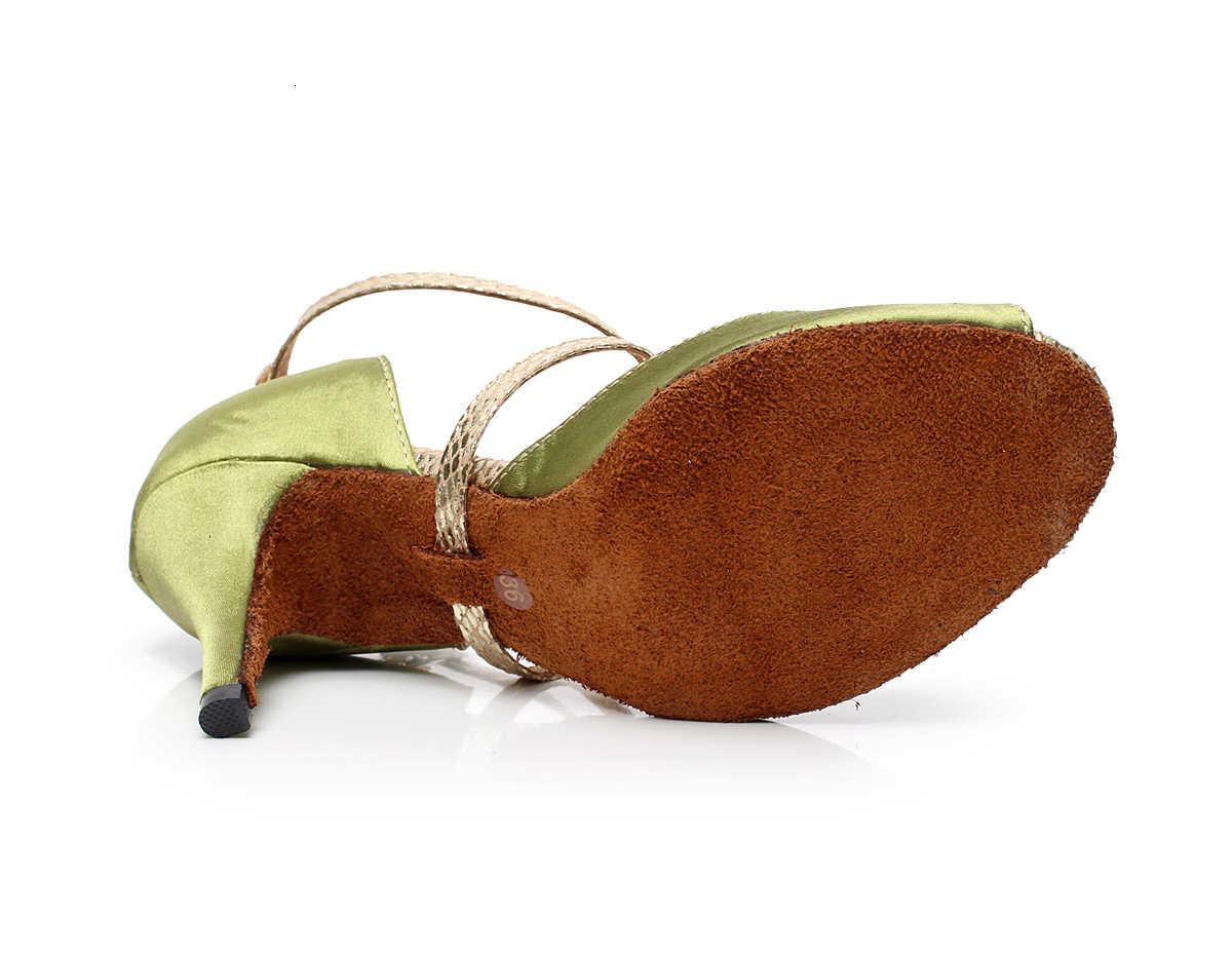 Freizeit Jazz Salsa Ballsaal Latin Dance Schuhe Für Tanzen Frauen Newmen Linie Linie Goldene Offene spitze 6112 Pumpen