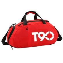 Strap Sport with Handles Travel Gym-Bag Solid Wear-Resistant Magic-Sticker Adjustable
