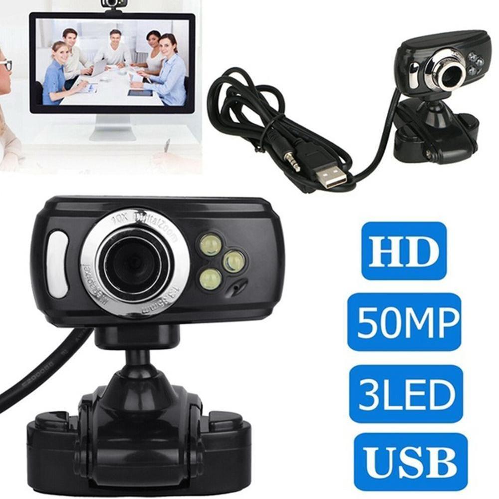 D Webcam 50 Megapixel Web Cam With Mic Webcam With Microphone HD Web Camera For Computer PC Laptop Desktop