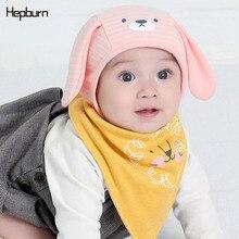 Hepburn Brand Baby Hat Baby Girl/Boy Hats Beanie Kids Hat Newborn Baby Cap muts Winter Ear Warmer Soft Solid Color Bonnet