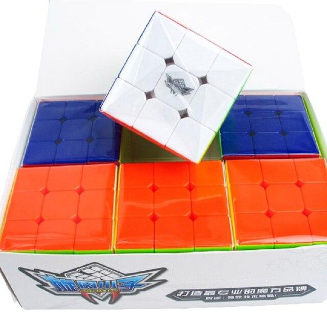 Zyklon Jungen Bündel 6 Teile/satz Geschenk Pack 5,6 cm 3x3x3 Magic Puzzle Professionelle 3x3 cubo magico Pädagogisches Spielzeug Für kind