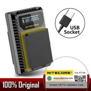 Зарядное устройство Nitecore FX1 с двумя слотами, USB, для Fujifilm, для камеры и камеры, с аккумулятором, с разъемом USB, для камеры, с разъемом для камеры,...