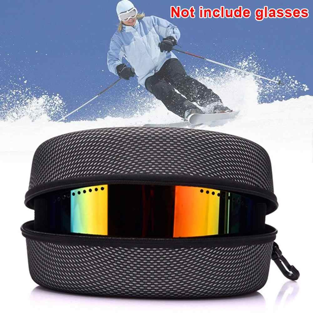 ป้องกันแว่นตาสกีหิมะกรณีสโนว์บอร์ดสกีแว่นตาแว่นตากันแดด EVA ซิปกล่อง