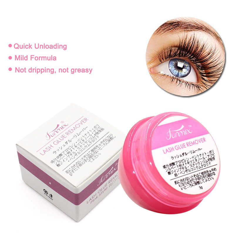Pro Pink Fase Eyelash Glue Remover Eyelash Extensions Tool Cream Fragrancy Smell Glue Remover With Cleansing Cotton TSLM2