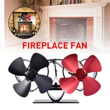 Fireplaces Stove Fan - Double Motor - 8 Blade Heat Powered Stove Fan Specially for Large Room for Fireplace, Wood/Log Burner