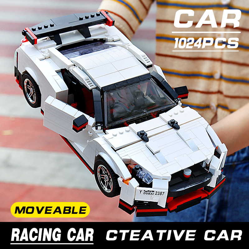 Mould King 13104 Creative Idea Series High Performance Vehicle Super Race Building Blocks 1024pcs Bricks Toys Classical Creator
