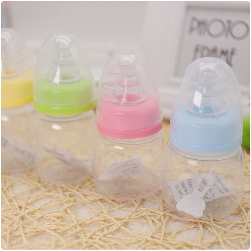 1 Pcs Hot Newborns Baby Bottles Toddlers Drinking Water Feeding Mini PP Bottle Boys &Girls Care Solid Colors Milk 60 ML Bottles