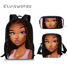 Afro Black Girl Backpack For Teenager Girls Pink Students Notebook Bag Scool Primary  School Satchel