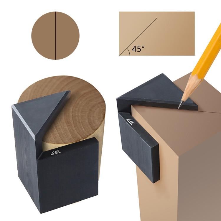 Купить с кэшбэком Woodworking 45 degree angle scribe straight angle round line scribe angle angle  wood marking gauge precision gauge  hand tools