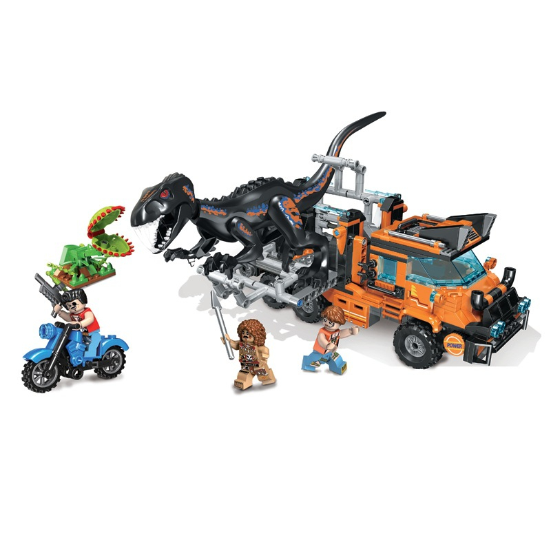 Bricks Jurassic Park series dinosaur model Building Blocks toys for Childrens gift Boy <font><b>1000Pcs</b></font> image