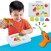 Puzzles For Children Kids Drill Toys Creative Educational Game Electric Screws Puzzle Fun Assembled Building Play Toy