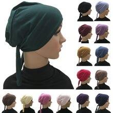 Couverture complète intérieur musulman coton Hijab casquette islamique coiffe de tête chapeau sous-écharpe os Bonnet turc foulards musulman couvre-chef