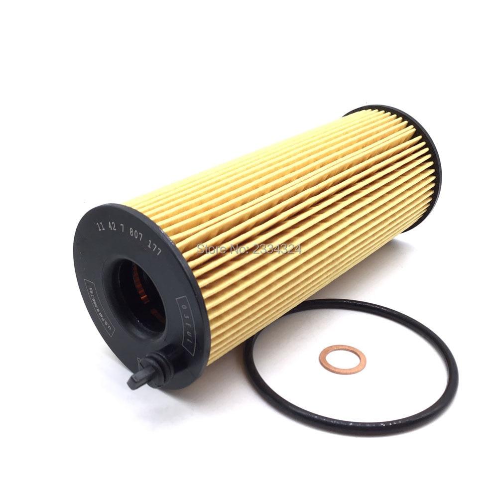 Oil Filter For BMW 520d  318 316 320 123 120 118 116 X3 X6 X5 X1 1er 3er 5er E82 E92 E81 F11 F10 F16 11427805707,11427807177