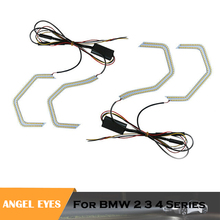 Crystal Angel Eyes Kits ICONIC M4 Style headlight DRL for BMW M3 F80 F82 2 3 4 5 Series auto headlamps