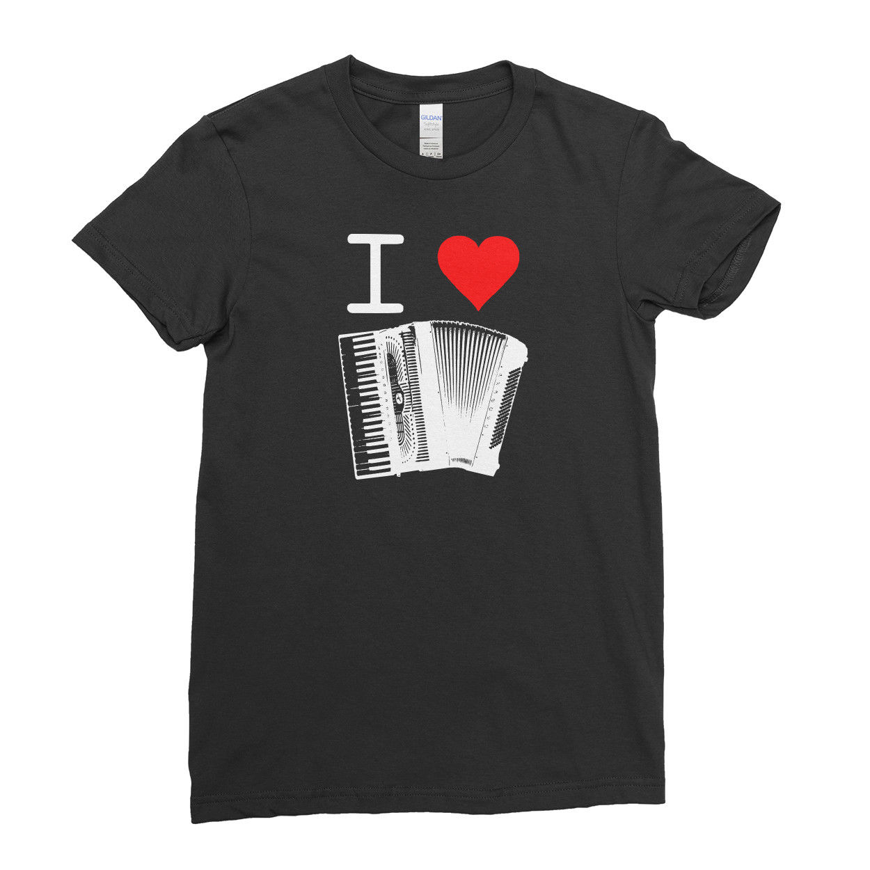 I love Music Instruments Funny Dance Song Women T Shirt Tee Top image