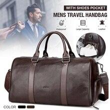 Duffle-Bags Totes Sport-Bag AEQUEEN Travel Large-Capacity Waterproof Women PU for Man