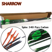 6/12Pcs 30 Archery Pure Carbon Arrow Spine 340 Replaceable Broadheads For Outdoor Practice Shooting Accessories