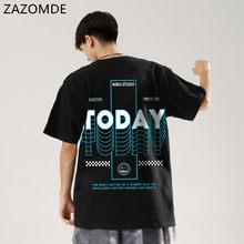 ZAZOMDE-camisetas de manga corta de estilo coreano para hombre, ropa de calle informal de Hip-Hop con cuello redondo, novedad de verano de 2021