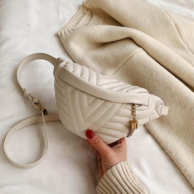 Fashion Women Messenger Belt Bag Pack Leather Waist Bags Girl Travel Small Fanny Chest Pack Bolsas Ladies Mini Shoulder Bag