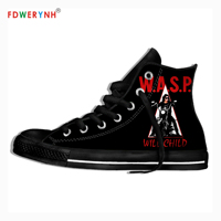 Men's Casual Shoes W.A.S.P Band Most Influential Metal Bands of All Time 3D Pattern Logo Men Shoes