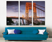 Modern Colorful Photo Picture Bridge Room Decor 3 Pcs Cities Canvas Art Painting Living Bedroom