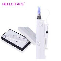 Hydra Injector Derma Pen 2 In 1 Nano Mesotherapie Microneedle Pen Mesogun Draagbare Smart Injector Pen Gezichtsbehandeling Machine