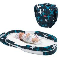 Portable Baby Cradle Bed Soft Cotton Breathable Baby Travel Foldable Carry Crib Cotton Baby Bed For 0 1 Years Baby