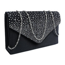 Shoulder Handbag Crossbody-Bags Evening-Purse Party Clutch Chain Phone Diamante Vintage