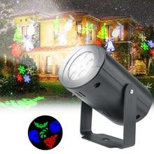 Foco LED de 3W, focos impermeables para interiores y exteriores, lámpara navideña con proyector de copo de nieve, reflector para fiestas de Halloween