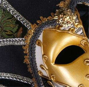 Image 4 - Полнолицевая Венецианская Маскарадная маска Джокера Марди Гра реквизит для косплея на Хэллоуин унисекс