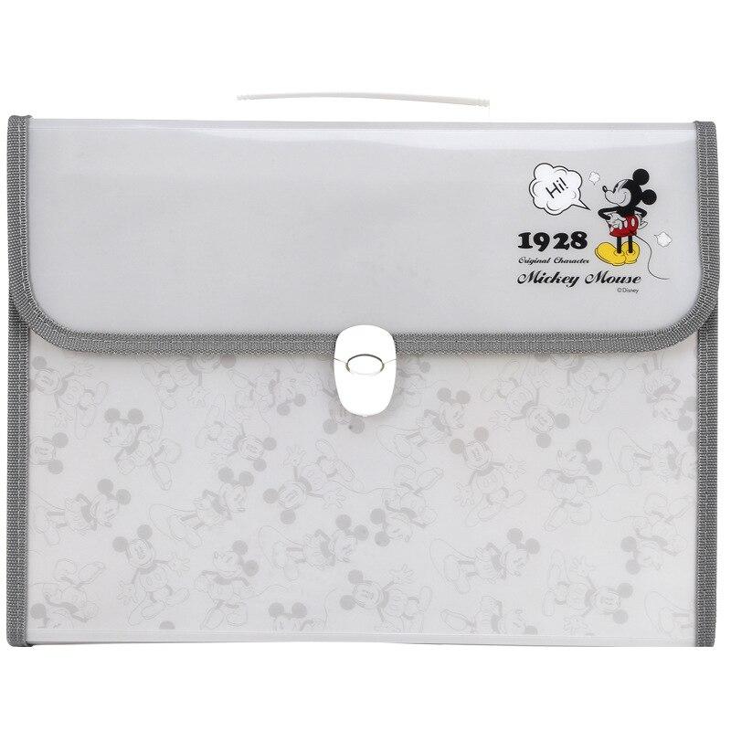 Disney Mickey Expanding Wallet Folder A4 Storage Bag Organ Bag Multi-layer Folder Stationery Office School Supplies