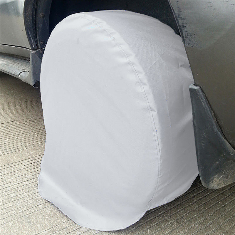 """2Pcs//Pack Tire Covers Sun Protector For Trailer Camper Car Truck Wheel 27-29/"""" US"""