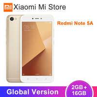 "Version mondiale en Stock Xiaomi Redmi Note 5A 2GB RAM 16GB ROM téléphone portable Snapdragon 425 13.0MP caméra 5.5 ""3080 mAh batterie"