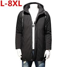 new 8XL 7XL High Quality Parka Men Winter Long Jacket Men Thick Cotton-Padded Jacket Mens Parka Coat Male Fashion Casual Coats(China)