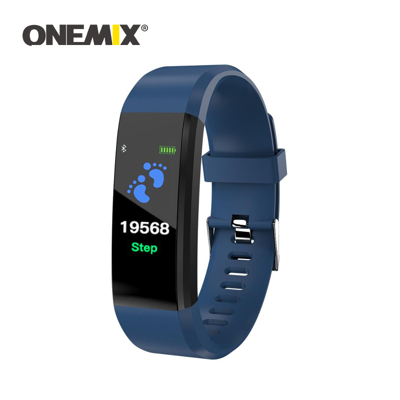 ONEMIX męskie i damskie sportowe krokomierze inteligentna bransoletka fitness tracker licznik wodoodporna kompatybilna opaska na nadgarstek na iphone xiaomi