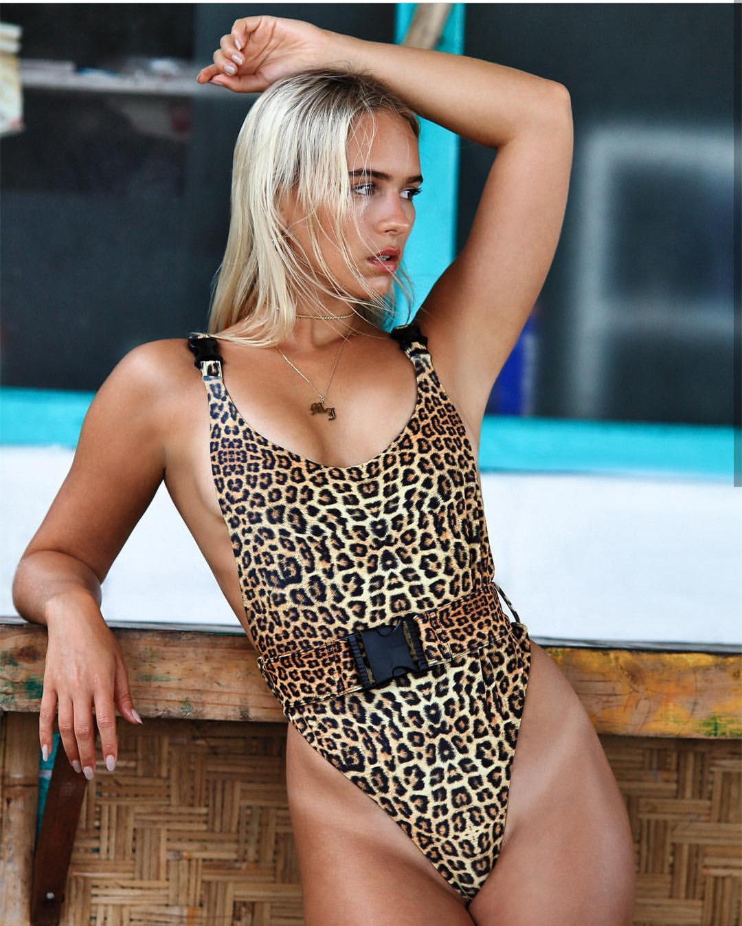 Europe And America New Style 2019 Onesie WOMEN'S Dress Spring And Summer Sexy Online Celebrity Hot Selling Sexy Bathing Suit