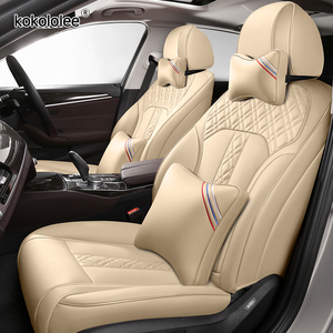 kokololee Custom Leather car seat covers For SUBARU XV Outback Impreza LEGACY Forester Tribeca Automobiles Seat Covers car seats
