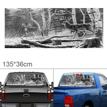 135 x 36CM PVC Hunting Deer Pattern Car Sun-Resistant Waterproof  Rear Windshield Sticker for Trucks / SUV / Jeep цена и фото