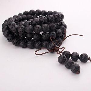 Image 4 - 108 Natural Stone Buddha Prayer Beads Mala Bracelets Buddhist Rosary Necklace