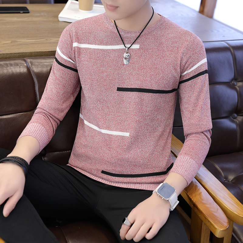 2019 New Autumn Winter Men'S Sweater Men'S O-Neck Solid Color Casual Sweater Men's Slim Fit Brand Knitted Pullovers M-XXXL