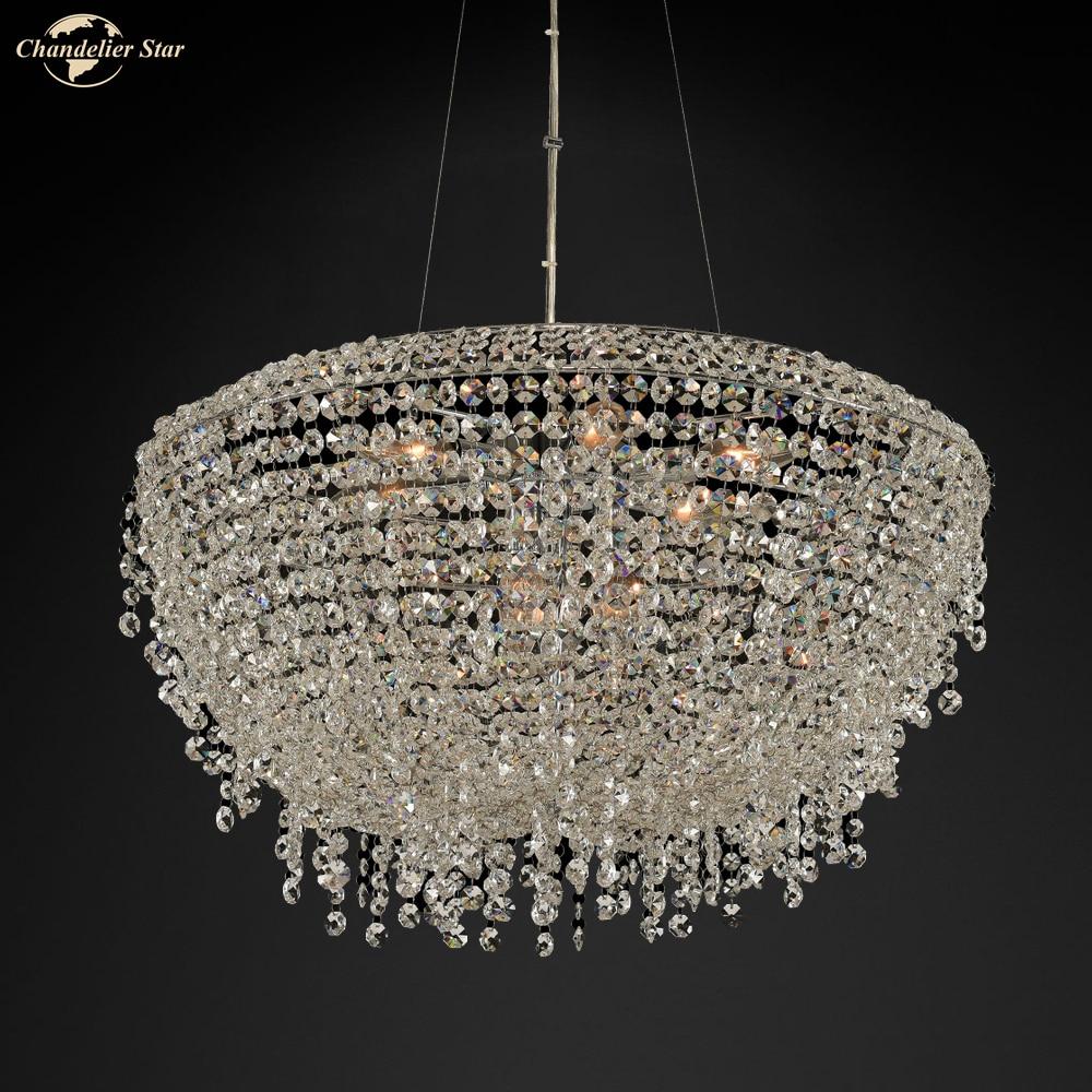 Купить современные роскошные хрустальные люстры k9 освещение для гостиной
