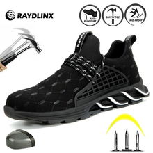 RAYDLINX Men's Safety Shoes Boots With Steel Toe Cap Casual Men's Boots Work Indestructible Shoes Puncture-Proof Work Sneakers