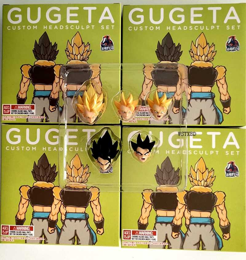 Shf WSTXBD Demoníaco Fit Terno para Dragon Ball Z DBZ Goku Vegeta Gogeta Custom Headsculpt Set Action Figure Figurals