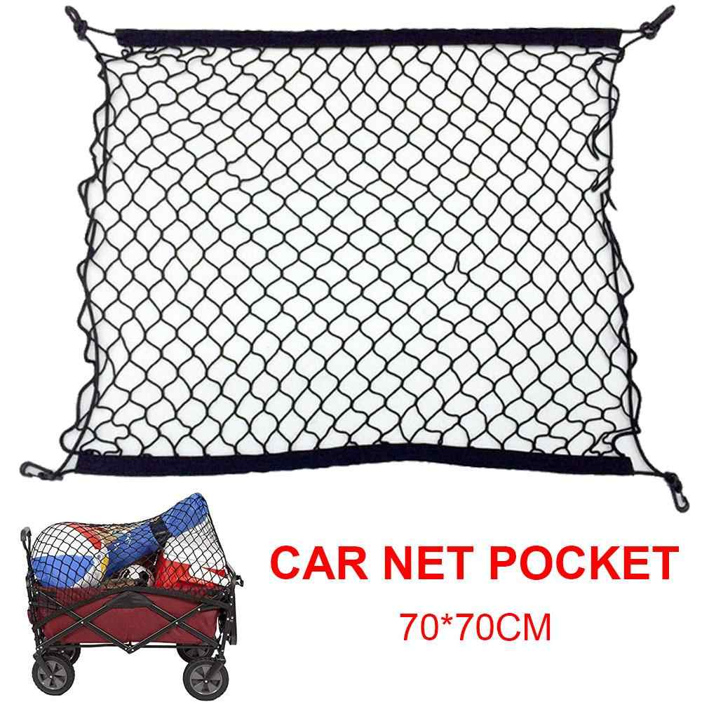 Truck Bed Cargo Net >> Cargo Net Trunk Organizer Net Car Trunk Nets With 4 Hooks For Suv Pickup Truck Bed Rooftop Travel Luggage Rack