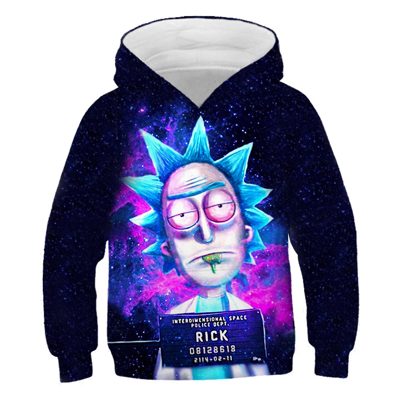 3D Rick Morty Hoodies Child Fashion Casual Harajuku Boys Clothes Sweatshirt Boys Kid Cartoon Anime Pullover Streetwear Tops
