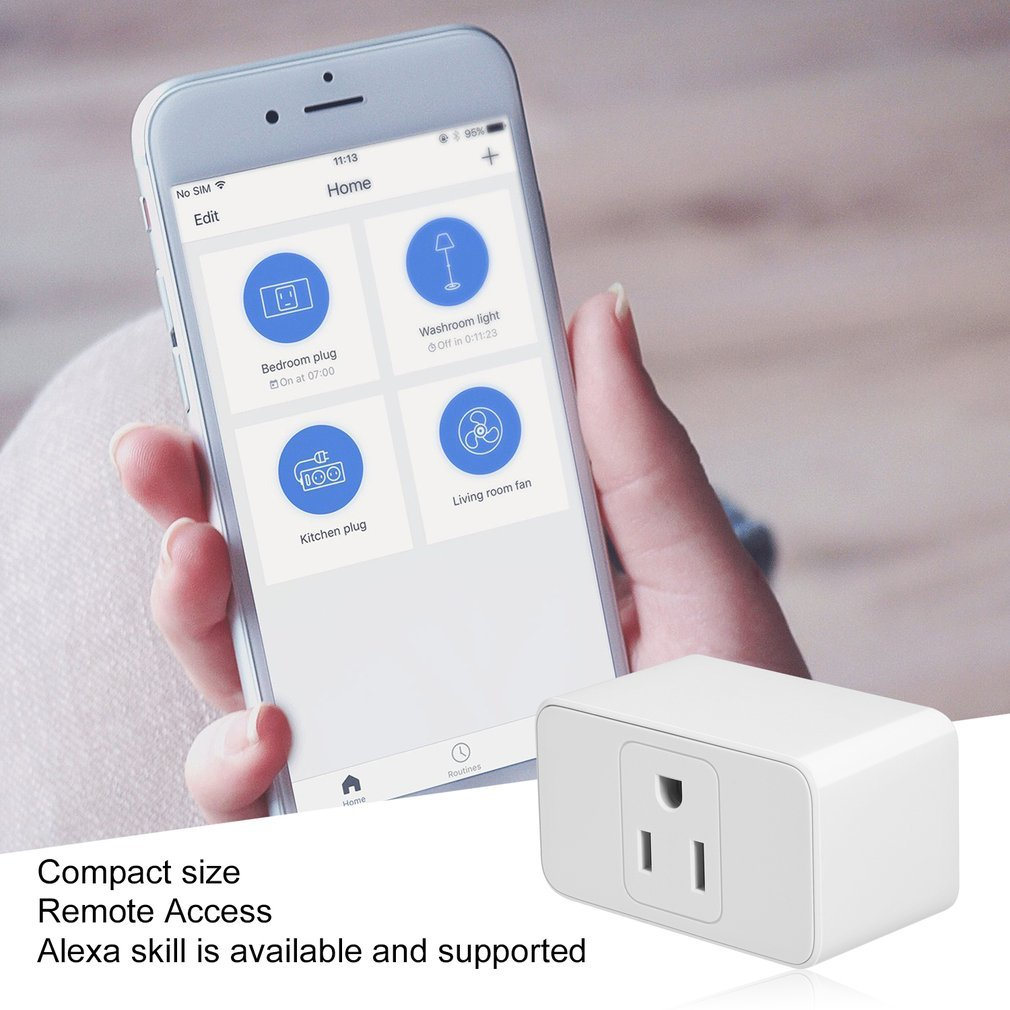 2020 New Wi-Fi Smart Plug <font><b>Socket</b></font> Switch Mini No Hub Needed <font><b>Wireless</b></font> App <font><b>Remote</b></font> Control Devices US Plug Wi-Fi Control image