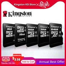 100% orijinal Kingston micro sd 128gb 64gb hafıza kartı 16 cartao de memoria sdhc 32gb sınıf 10 cartes adaptörü ile Dropshipping