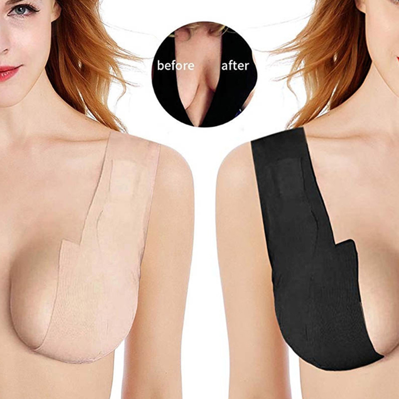 1 Roll 4M Body Invisible Push Up Bra Women Nipple Cover DIY Breast Lift Tape Sticky Bra Freedom <font><b>Bralette</b></font> Plus Size Lingerie image