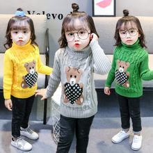 Kids Sweaters Christmas Sweater With Deer Baby O-Neck Turtleneck Pull Cute Cartoon Sweter Boys Toddler Girl Clothes Balabala(China)